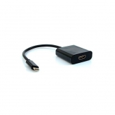Cabo Adaptador Hdmi F X Usb Tipo C Adp-303Bk Plus Cable
