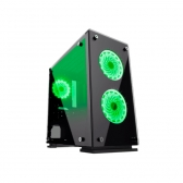 Gabinete Gamer Micro Atx/ Itx Sem Fonte Hero H605-Ta Preto/fan Led Rgb Gamemax