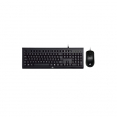 Kit Teclado E Mouse Usb Km100 Preto Hp