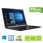 Notebook Acer A515-51G-C690 Intel Core I5 8550U 8Gb(2X4Gb) 1Tb 15,6 Full Hd Geforce Mx130 2Gb Windows 10 Home Preto