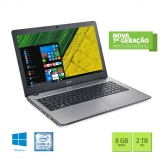 Notebook Acer F5-573G-519X Core I5 7200U 8Gb 2Tb 15,6
