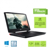 Notebook Gamer Acer Vx5-591G-54Pg Core I5 7300Hq 8Gb 1Tb 15,6