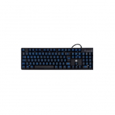 Teclado Usb Gamer K300 Black Com Led Azul Hp